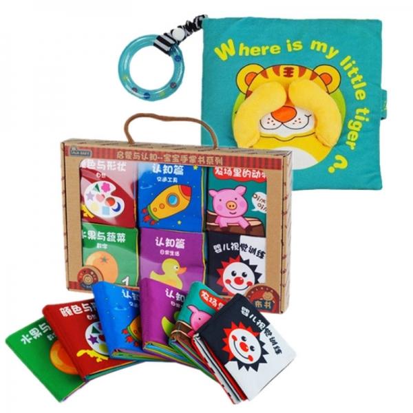 Cloth Book - Where Is My Little Tiger Cum 6 Mini Cloth Books -BT02+BKM02