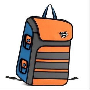 Backpack 2D Jump Paper Bag - ORANGE