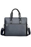 Barca X-3 Men's Formal Bag (Grey) - Free Wallet (Grey)