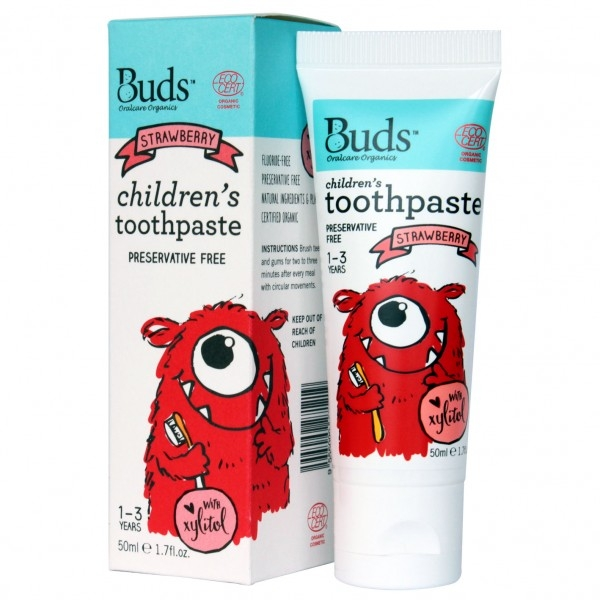 Bud\'s Children\'s Toothpaste with Xylitol 50ml - Strawberry