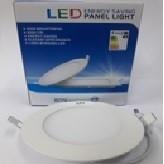LED PANEL 6W 6000K ROUND COOL WHITE