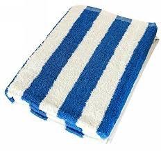 [NEW ARRIVAL] Pool Towel High Quality 32\' x 65\' - Blue Stripes