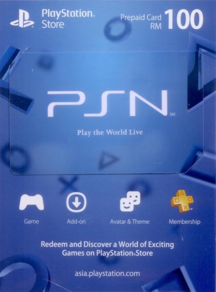 PSN RM100 (PlayStation Network Digital Code)