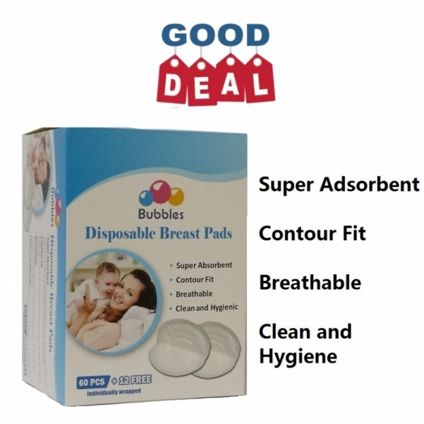 Free delivery Bubbles Disposable Breastpads 72 \'s breast pad