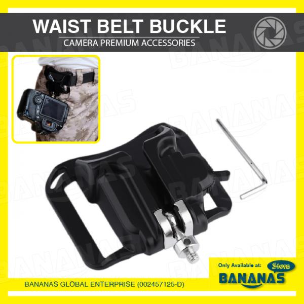 Quick Fast Loading Holster Hanger Waist Belt Buckle Button Mount Clip For Nikon Canon DSLR Camera