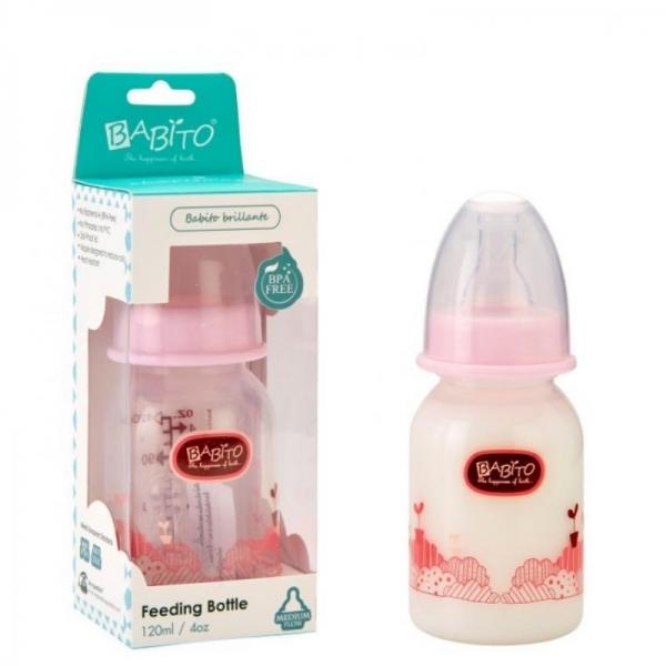 Babito Baby Feeding Bottle 4oz/120ml Charismata (Pink)