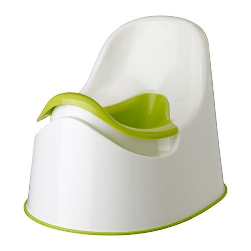 Potty Training Bowl (White + Green)