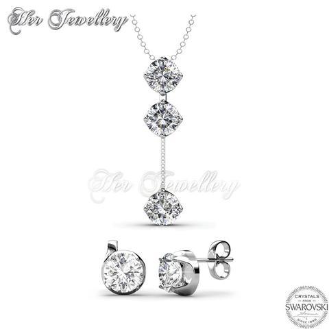 Dazzling Set Embellished with Crystal from Swarovski