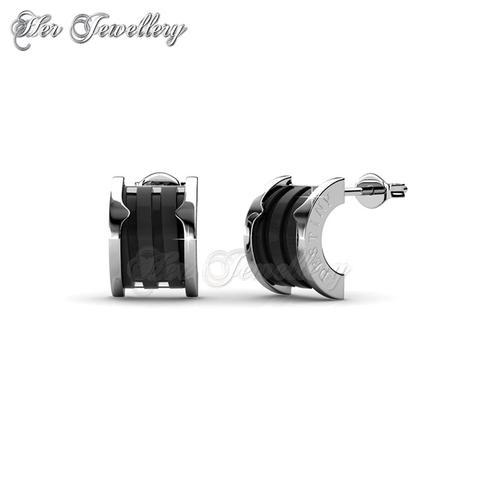 Destiny Ceramic Earrings (Black)