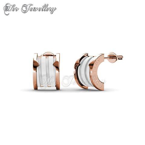 Destiny Ceramic Earrings (White)