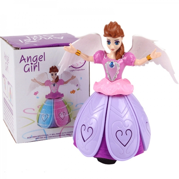 Dancing Angel Girl Spinning with Bump & Go Action, Flashing Light with Music