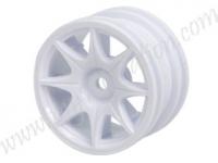 1/10 8 Dual Wheel Set For Tamiya M-Chassis Series (8pcs) - White #WH-08/WI