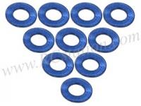 Aluminium M3 Flat Washer 0.5mm (10 Pcs) Blue #3RAC-WF305/BU