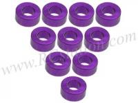 Aluminium M3 Flat Washer 2.5mm (10 Pcs) Purple #3RAC-WF325/PU