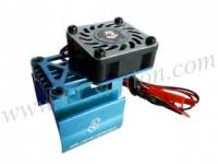 Extended Motor Heat Sink W/ Fan Ver.2 For 540 Motor (High Finger) - Light Blue #3RAC-MHS7/LB/V2