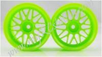 Fluorescent Green Wheel,4pcs #2068G