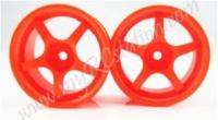 Fluorescent Orange Wheel,4pcs #2062O