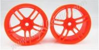 Fluorescent Orange Wheel,4pcs #2063O