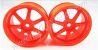 Fluorescent Orange Wheel,4pcs #2064O