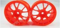 Fluorescent Orange Wheel,4pcs #2065O