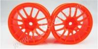 Fluorescent Orange Wheel,4pcs #2067O