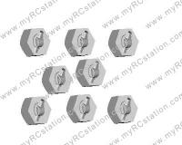 HSP Wheel Hex - 8pcs#02100