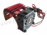 Motor Heat Sink W/ Fan Ver.2 For 540 Motor (Fan-Shaped) - Red #3RAC-MHS5/RE/V2