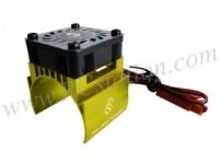 Motor Heat Sink W/ Fan Ver.2 For 540 Motor (High Finger) - Gold #3RAC-MHS4/GO/V2