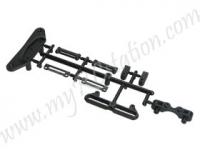 Replacement Plastic Front Bumper & Battery Socket Set For #TT01-38 #TT01-M02