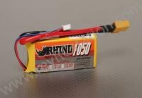 Rhino 1050mAh 2S 7.4v 30C Lipoly Pack #R1050.2S.30