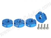 Wheel Adaptor (4mm) - Thick #3RAC-WX124/LB