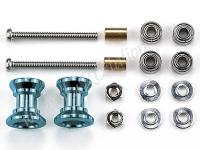JR Double Aluminum Rollers - 9-8mm/Blue #94721
