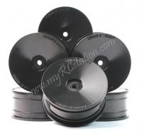 Delrin 24mm Dish Wheel Set (8pcs),Black For 1:10 Touring Cars #WL-0057BK