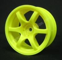 Mikuni Gram Lights 57D Neon Yellow 7mm, 2pcs #DW-427YE