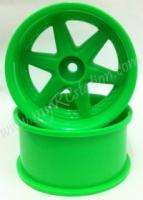 RHW-203G Racing Heart Green 6mm Offset, 2pcs #RHW-206G