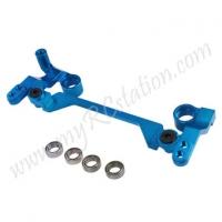 SP Steering Crank W/Ball Bearing Set For R31[Light Blue]#ER.R31-17-LBL