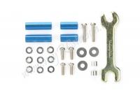JR Aluminum Hex Mount Set - Blue,10/15mm #94791
