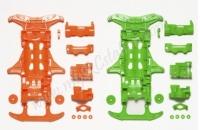 JR VS Fluorescent Chassis Orange/Green #94839