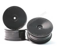 Delrin 24mm Dish Wheel Set (4pcs)- Black for 1:10 touring cars#WL-0056BK
