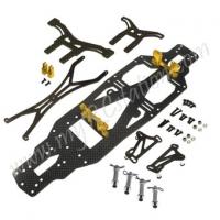 R31 Drift GRT Side Mount Chassis Set (Gold)#ER.R31-16SM-GO