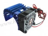 Motor Heat Sink W/ Fan Ver.2 For 540 Motor  (Fan-Shaped) - Blue #3RAC-MHS5-BU/V2