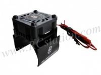 Motor Heat Sink W/ Fan Ver.2 For 540 Motor (High Finger) - Black #3RAC-MHS4-BL/V2
