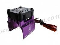 Motor Heat Sink W/ Fan Ver.2 For 540 Motor (High Finger) - Purpl #3RAC-MHS4-PU/V2