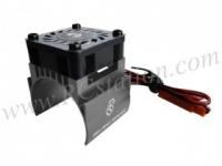 Motor Heat Sink W/ Fan Ver.2 For 540 Motor (High Finger) - Titanium #3RAC-MHS4-TI/V2
