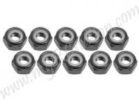 4mm Aluminum Lock Nuts (10 Pcs)-Titanium #3RAC-N40/TI