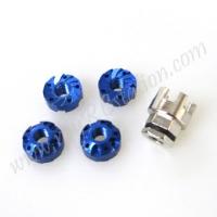 SP Scale Wheel Nut(4mm)[Blue] W/Adaptor #ER.3919-BL