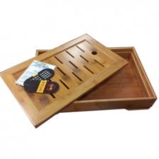 Bamboo Tea Tray 知竹 中式盛水 孟宗老竹制功夫茶具茶盘 (中)