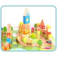 Wooden Toy - 87 Blocks City