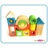 Wooden Toy - 16 Blocks First Sense Blocks