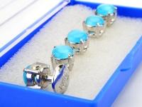 Butang Baju Berlian Buatan Biru (Besar)
